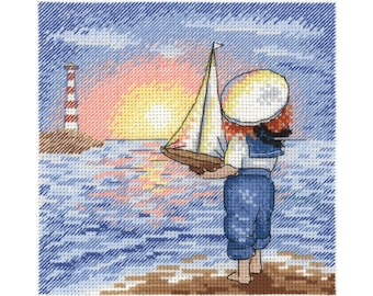 Cross Stitch Kit Little Captain NV-633