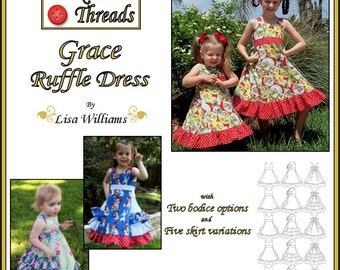 INSTANT DOWNLOAD: Grace Ruffle Dress - diy Tutorial pdf eBook Pattern - Sizes 18M to 14