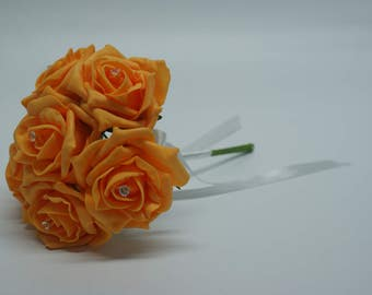 Wedding Posy - Perfect for Bridesmaids ( Tangerine )