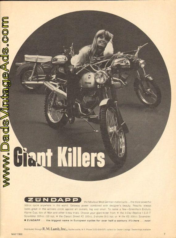 1968 Zundapp 100cc ''Giant Killers'' Ad #e68ea10