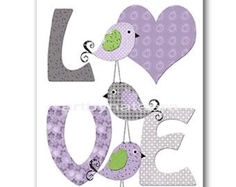 Bird Digital Art Print Digital Nursery Art Nursery Digital Print Printable Nursery Art Instant Download Baby Girl Nursery Art 8x10 11X14