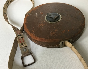 "Lufkin Tape Measure ""Sterling"" Antique Leather 100ft"