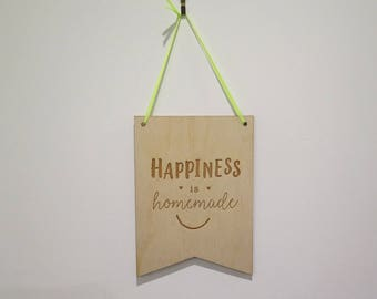 Happiness is Homemade Plaque
