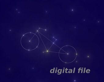 """Constellation """"Bike"""", digital file JPG, PNG"""