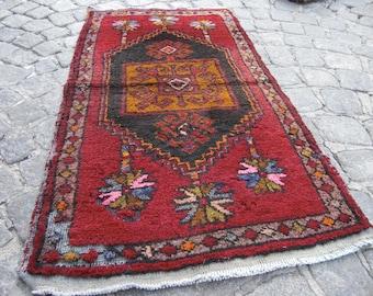 rug old , vintage anatolian rug, vintage small turkish rug,  SR42