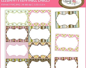 50%OFF Printable labels, editable PDF labels, task cards, printable tags, place cards, gift tags, buffet food labels, candy buffet tags