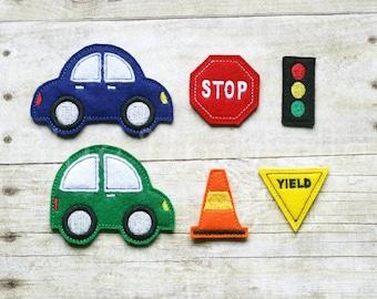 Felt Car & Road Sign Story Board Pieces