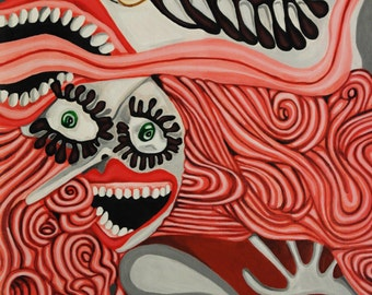 Hoopla- Original Acrylic Painting