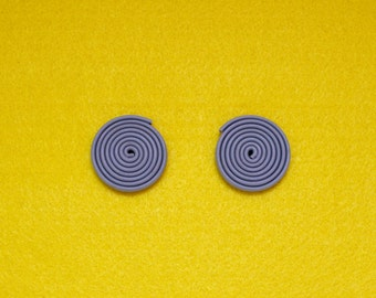 LANDLINES Upcycled Gray Statement Earrings
