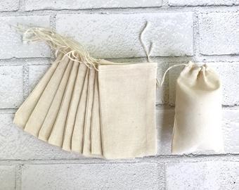 3 x 5 Muslin Bag 25 Bulk Drawstring Blank Cotton Favor Bags Wedding Bridal Shower Baby Shower Soap Jewelry DIY Craft Supplies Thank You