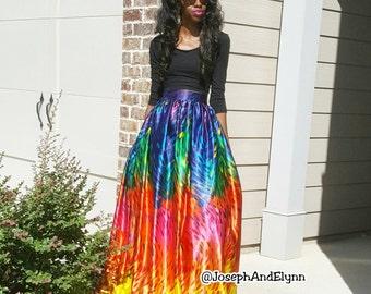 "Mulitcolor Splash Silky Ball Skirt ""Erika"""