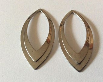 2 pendants / spacer made of stainless steel
