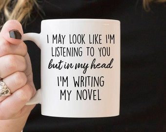 Gifts for writers etsy author gifts literary gift writer gift but in my head im negle Image collections
