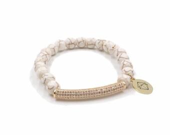 Beige Glamour Bracelet