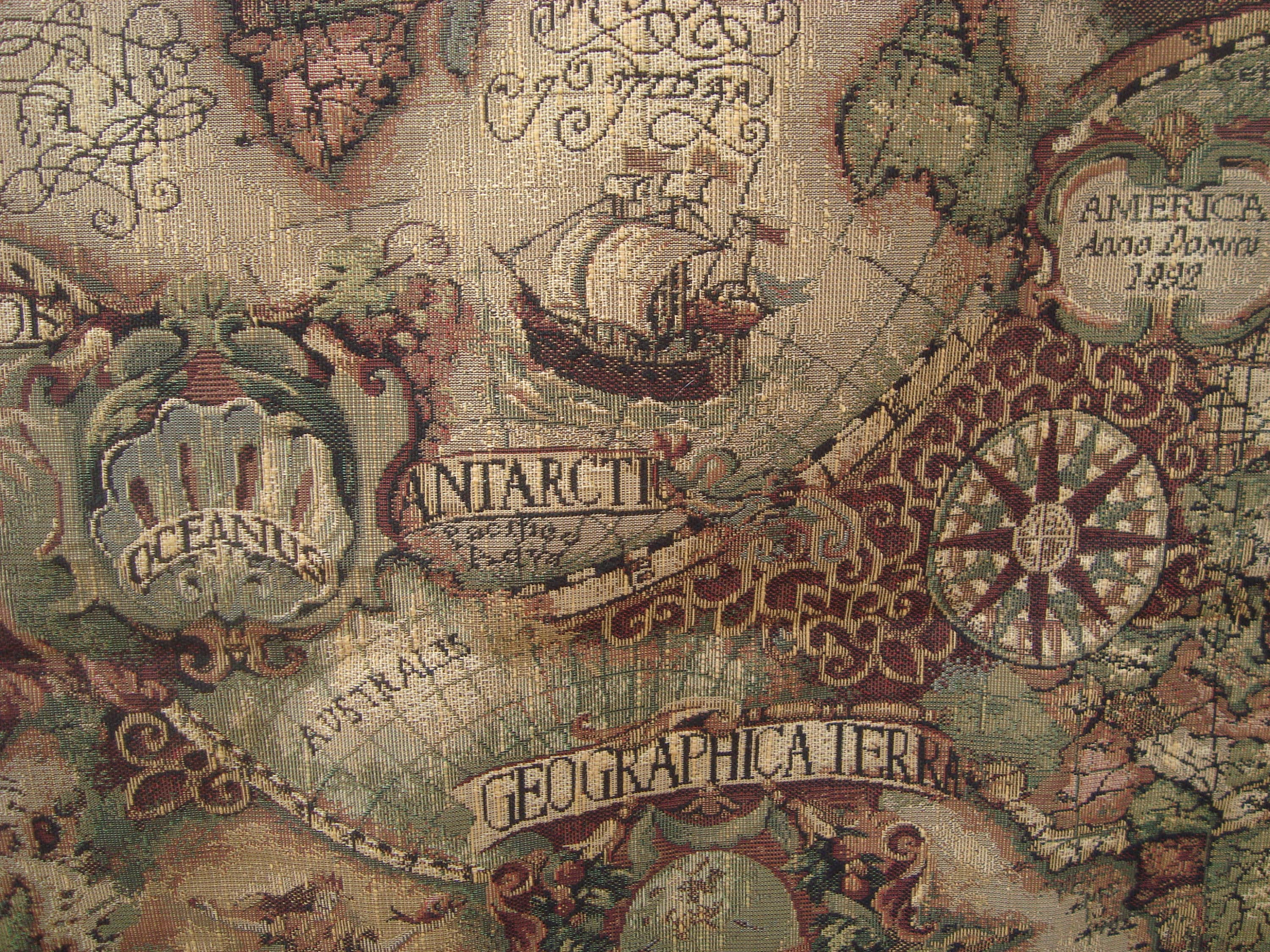 Vintage old world map tapestry fabric 15 yards x 48 wide from vintage old world map tapestry fabric 15 yards x 48 wide sold by sofiascobwebmuseum gumiabroncs Images