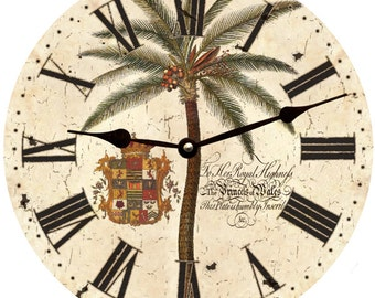 Rustic Palm Tree Clock