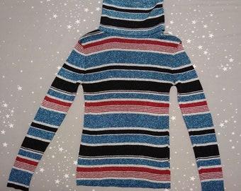 Vintage 70's Bowie Glam Rock Glitter Turtleneck Sweater by Fantastik