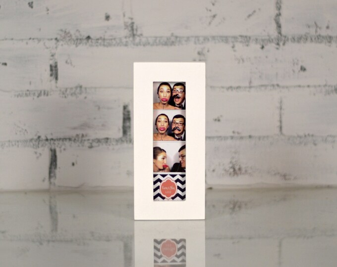 "Photo Booth Frame 2 x 6 for Picture Strip in 1x1 Flat Style and in COLOR of YOUR CHOICE - 2x6"" Wedding Photo Booth Frame - Wedding Favor"