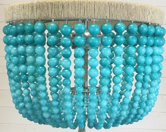 Turquoise Jade Pendant Light- Ready to Ship!