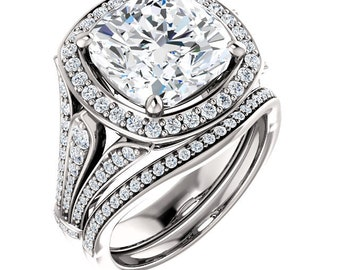 Build Your Own Custom Bridal, Engagement and Wedding Band Sets.