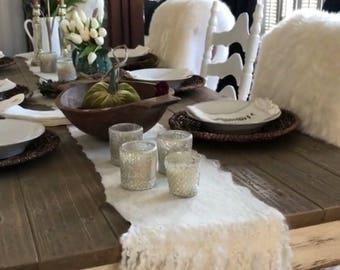 Fetled Table Runner, Eco Friendly, Felted Home Decor, FarmHouse