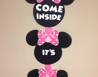 Minnie Mouse Door Sign