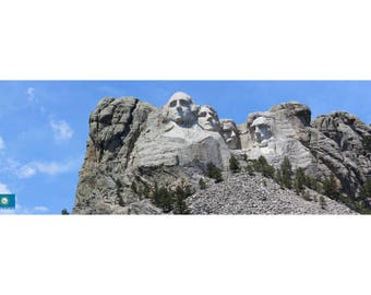 Mount Rushmore in South Dakota, United States - panoramic photography - unframed print