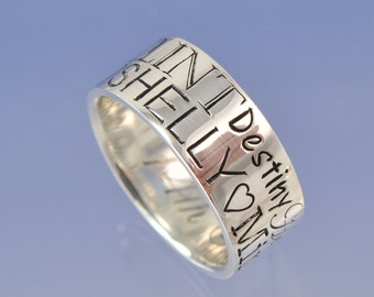 The Memory Ring. Your special memories captured forever on a sterling silver ring.