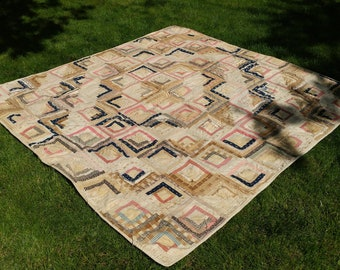 Antique Hand-stitched Quilt