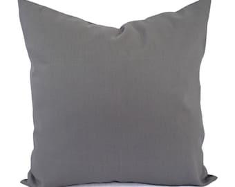 Medium Grey Decorative Pillow Cover - Grey Pillow Cover - Linen Pillow Cover - Solid Gray Pillow - Custom Pillows - 16 x 16 Pillows 18 x 18