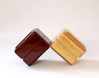 Engagement Ring Box Wood, Ring Bearer Box, Wooden ring Box, Proposal Ring Box, Ring box Wedding, Wooden Jewellery Box, Ring Holder