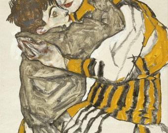 Egon Schiele: Schiele's Wife with Her Little Nephew. Fine Art Print/Poster. (003709)