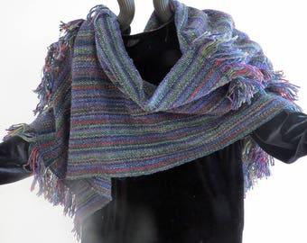 Poncho,Handwoven Silk,Kid Mohair,Wool,Rayon.Soft,Warm andLuxurious