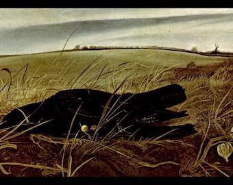 "Andrew Wyeth, Andrew Wyeth Print, Fine Art Print, Vintage Wyeth Print, American Artist, Wyeth Painting, Americana,""Winter Fields"""