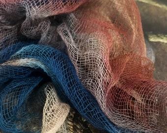 Cotton scrim/ muslin/gauze for nuno felting, art quilts and embroidery.