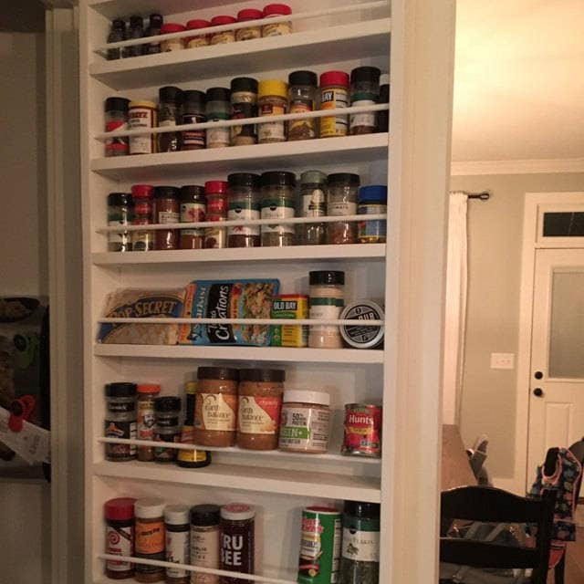 pantry door spice rack door spice rack door mounted spice. Black Bedroom Furniture Sets. Home Design Ideas