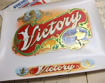 Vintage Victory, Large Cigar Box Labels (4), New Old Store Stock