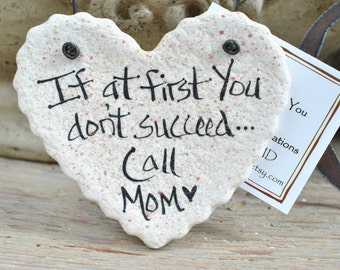 Gift for Her Mother's Day Gifts Mom's Birthday Christmas Ornament Small Mom Gifts Handmade Heart Salt Dough Ornament Gift for Mum