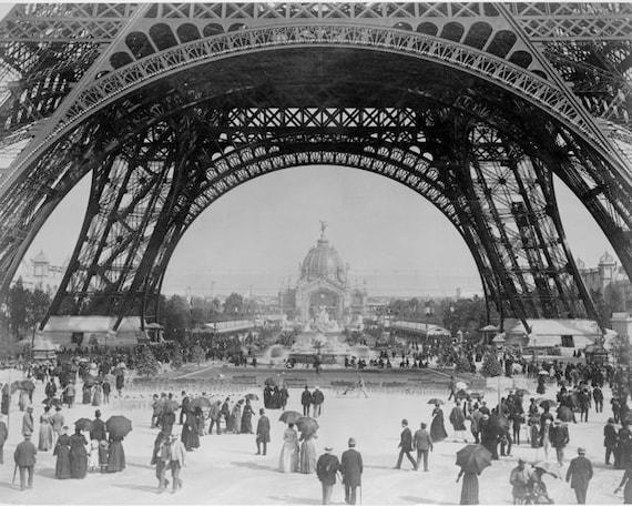 Eiffel Tower Paris 1889 Belle Epoque Universal Exposition Tour