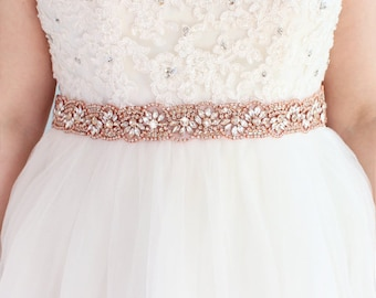 Wedding Belt Bridal Sash Belt Sash Belt Bridesmaid Belt Crystal Rose Gold Belt Wedding Dress Belt Gold Belt For Dress