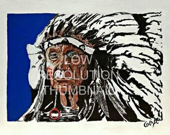 Red Cloud Portrait