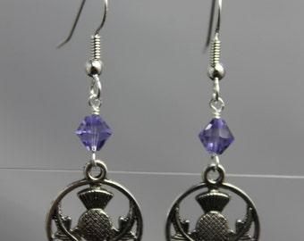 Scottish Thistle Earrings - Outlander inspired