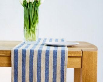 Linen rustic table runner, prewashed linen table runner, long linen table runner, natural linen table runner, custom length