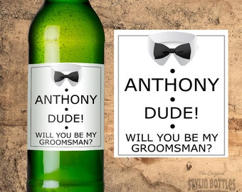 Best Man Gift, Wedding Gift Ideas, Will You Be My Best Man Beer Labels, Best Man Gift Set, Best Man Gift, Groomsman Gift