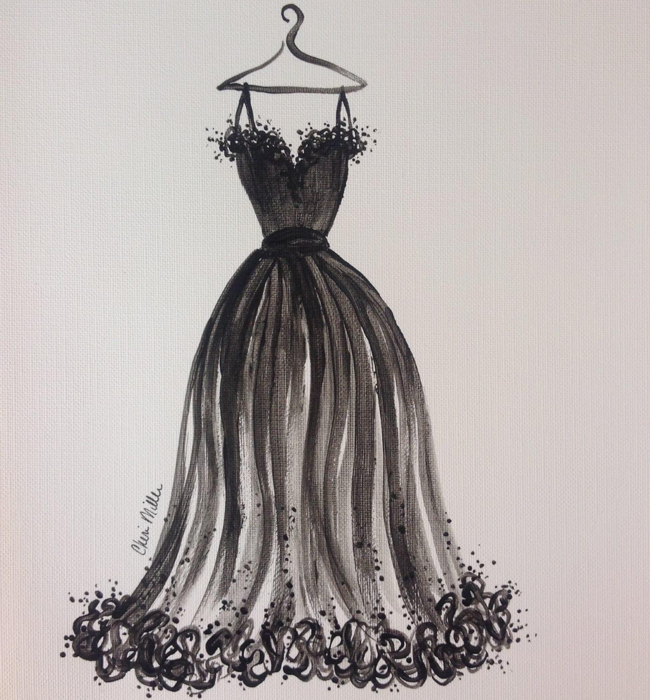 Fashion Illustration Little Black Dress Fashion Sketch