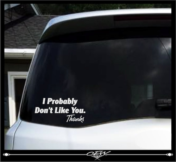 Automobile Window Decals