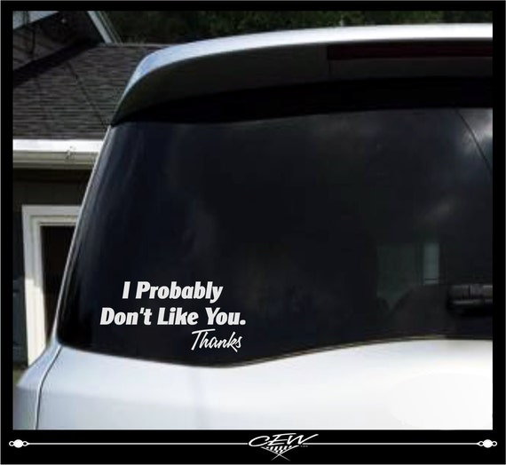 Funny Car Decal Rude Humor Smartass Decals Cocky Vinyl - Funny car decal stickers