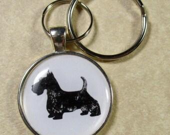 Scottish Terrier Keychain, Scotty Key Ring, Scottie Key Fob, Scotty Mom Gifts, Scotty Dad Gifts, Scottish Terrier Gifts, Scotty Lover Gifts