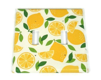 Double Switch Plate Light Switch Cover in Lemonade (292D)