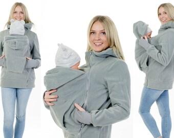Babywearing Jacket for Mom and Baby fleece Jacket